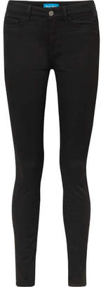 MiH Jeans Bodycon Mid-rise Skinny Jeans - Black