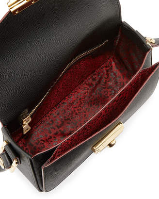 Longchamp Le Pliage Heritage Small Leather Crossbody Bag