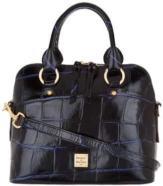 Dooney & Bourke Croco Embossed Leather Satchel Handbag -Cameron