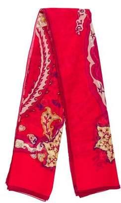Hermes De Tout Coeur Silk Mousseline Shawl