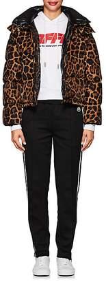Moncler Women's Caille Cheetah-Print Puffer Coat