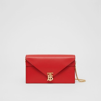 Burberry Small Leather TB Envelope Clutch