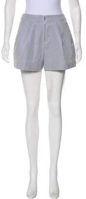 3.1 Phillip Lim Patterned High-Rise Mini Shorts