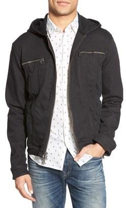John Varvatos Star USA Hooded Denim Jacket $298 thestylecure.com