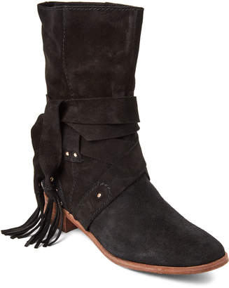 See by Chloe Black Suede Studded Boots