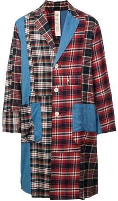 Puma Maison Yasuhiro patchwork denim coat