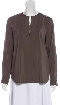 10ab5d4fd6cb5d Brunello Cucinelli Silk Long Sleeve Blouse