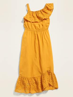 Old Navy Eyelet-Ruffle Defined-Waist Midi for Girls