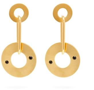 Marni Hoop Link Metal Earrings - Womens - Gold