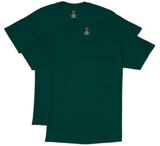 Hanes Men's Short Sleeve Pocket Tee Value Pack (2-pack)