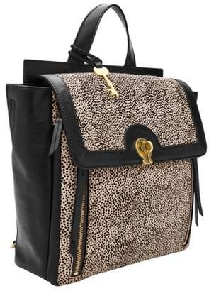 Fossil Amelia Backpack Handbags White Cheetah