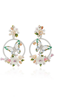 Anabela Chan M'O Exclusive: Diamond Butterfly Wreath Earrings