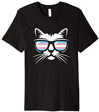Transgender Pride Cat Gift T Shirt Support Trans Community