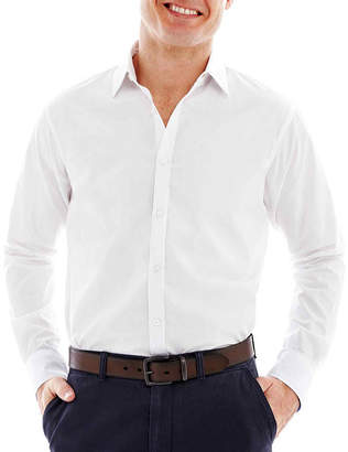 Haggar Long-Sleeve Button-Front Shirt