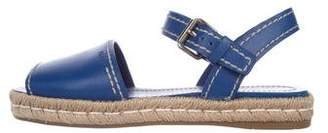 Prada Leather Ankle Strap Espadrilles