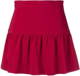 RED Valentino gathered hem mini skirt