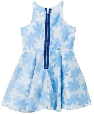 Pippa & Julie Floral Lace Mesh Dress (Big Girls)