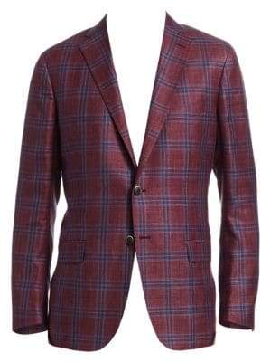 Saks Fifth Avenue COLLECTION Plaid Check Sportcoat