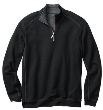 Men's Big & Tall Tommy Bahama 'Flip Side' Reversible Twill Quarter Zip Pullover $118 thestylecure.com