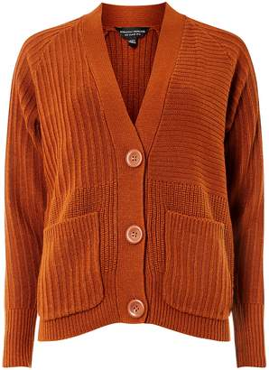Dorothy Perkins Womens Tan Large Button Cardigan