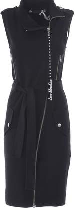 Love Moschino Fitted Biker Dress