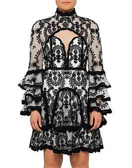 Thurley Candice High Neck Long Sleeve Lace Dress