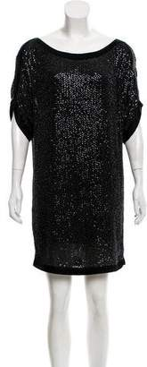 Diane von Furstenberg Silk Embellished Dress