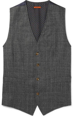 Barena Grey Slim-Fit Prince of Wales Checked Wool Waistcoat