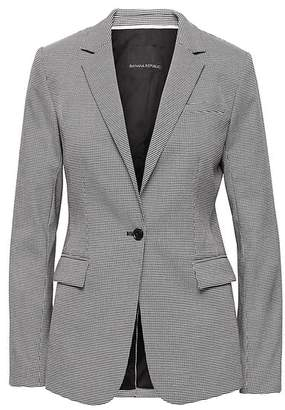 Banana Republic Long and Lean-Fit Washable Houndstooth Blazer