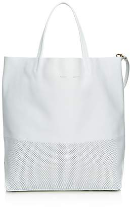 Alice.D Foro Base Perforated Large Leather Tote $575 thestylecure.com