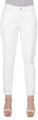 Eileen Fisher Stretch Boyfriend Jeans, White $178 thestylecure.com