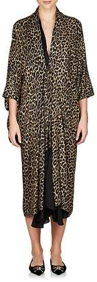 Balenciaga Women's Leopard-Print Layered Midi-Dress