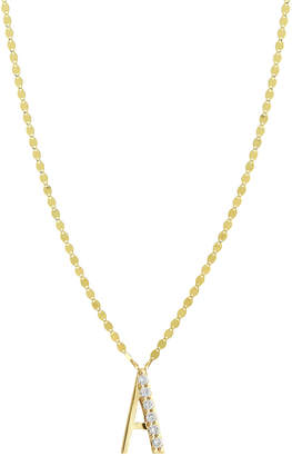 Lana Initial 14K Gold Pendant Necklace with Diamonds