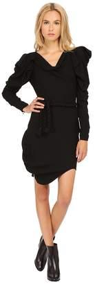 Vivienne Westwood Moss Crepe Long Sleeve Animal Dress Women's Dress