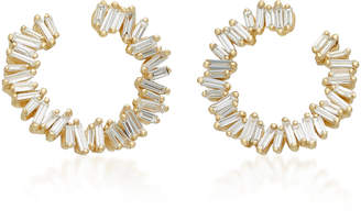 Suzanne Kalan Spiral 18K Gold Diamond Earrings