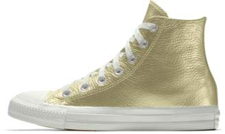 Nike Converse Custom Chuck Taylor All Star Metallic Leather High Top Shoe