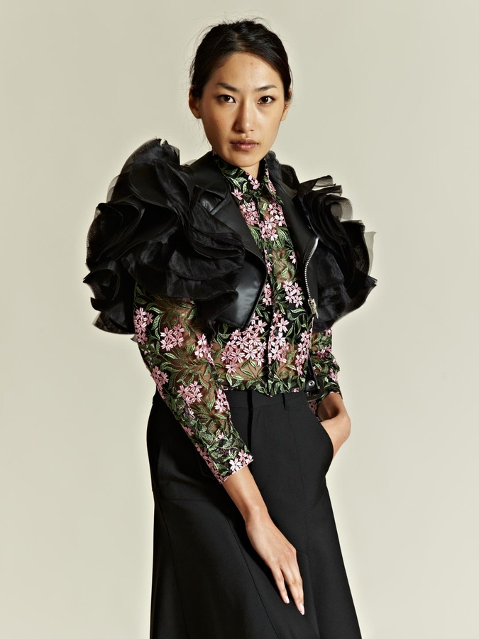 Junya Watanabe women's Imitation Leather Ester Organdy Jacket
