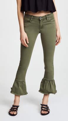 Blank Skinny Jeans with Ruffle Hem