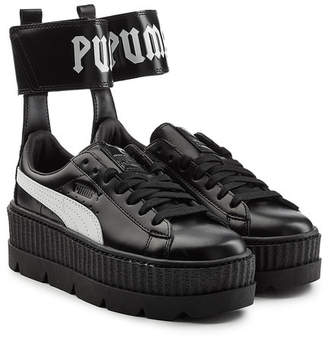 FENTY PUMA by Rihanna Ankle Strap Leather Creeper Sneakers