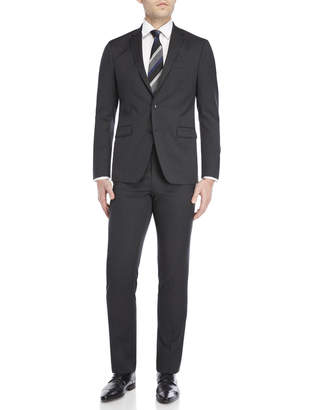 Kenneth Cole Two-Piece Charcoal Travel Suit