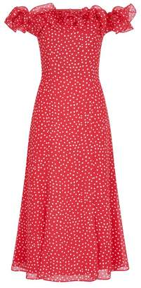 Keepsake The Label Moonshine Polka Dot Midi Dress