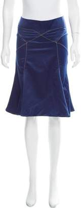 Just Cavalli Satin Knee-Length Skirt