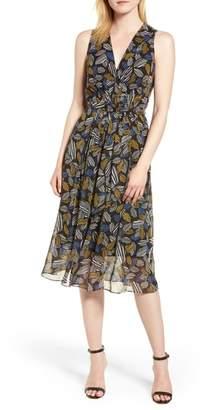 Anne Klein Leaf Pleat Midi Dress