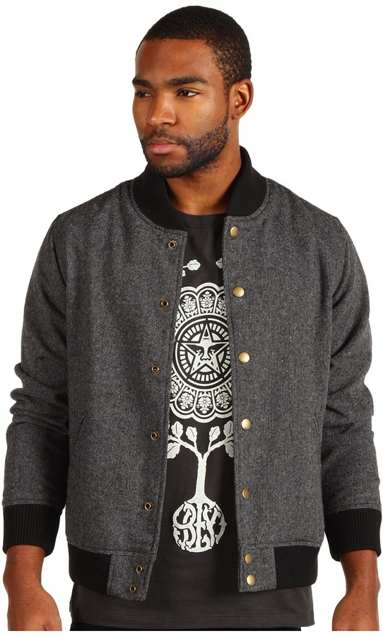 Obey Drop Back Jacket (Black) - Apparel