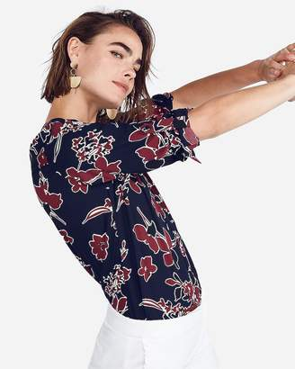 Express Petite Large Floral Chelsea Popover