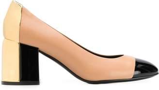 Casadei colour block heeled pumps