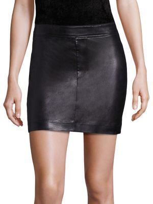 Helmut Lang Stretch Leather Mini Skirt $645 thestylecure.com