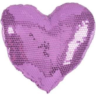 Teen Vogue Heart Sequin Pink Pillow