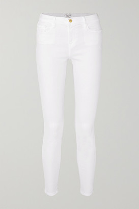 Frame Le Color Mid-rise Skinny Jeans - White
