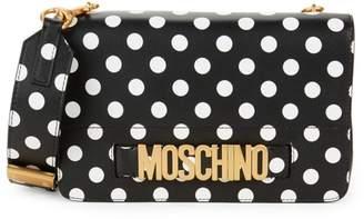 Moschino Polka Dot Leather Satchel
